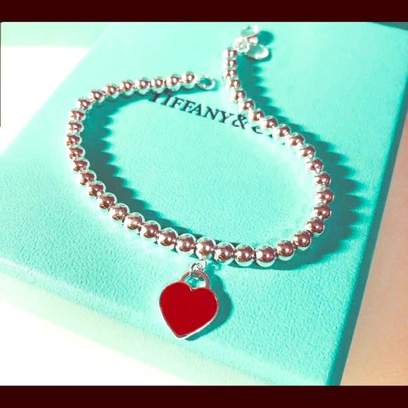 5ebcd0ede Tiffany & Co. Jewelry | Return To Tiffany Bead Bracelet Red | Poshmark